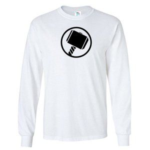 Youth Kids Thor Hammer T-Shirt Long Sleeve